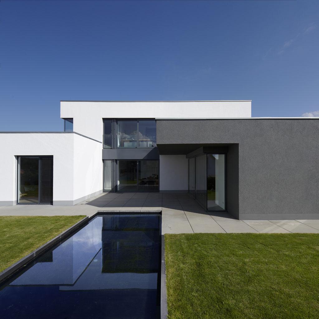 Fachwerk4 | Architekten BDA, Haus W, Montabaur, Gartenseite Mit  Wasserfläche ...