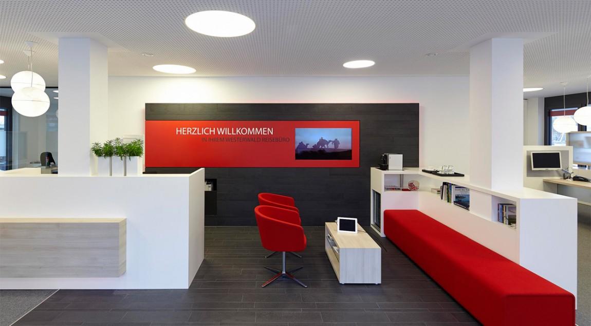 Fachwerk4 | Architekten BDA, Reisebüro, Montabaur, Eingangsbereich